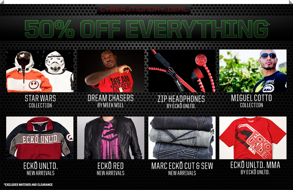2011 Cyber Monday SaleShopEcko Cyber Monday Sale - 50% off Everything