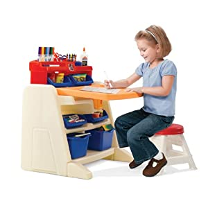 $47.54 Step2 Flip and Doodle Easel Desk with Stool