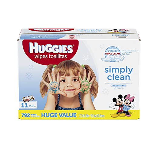 $13.22 Prime Members Only! Huggies Simply Clean Baby Wipes, Unscented,792 Ct @ Amazon