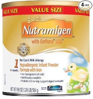 4罐$88.18 限Prime会员美赞臣Nutramigen 水解蛋白益生菌婴儿1段配方奶粉 19.8ozX4罐