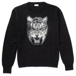 Saint Laurent - Tiger-Intarsia Mohair-Blend Sweater