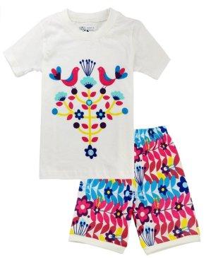Cats Pajamas Girls Sleepwear Clothes Set Kids Dog Cotton 2 Piece Shorts Suit
