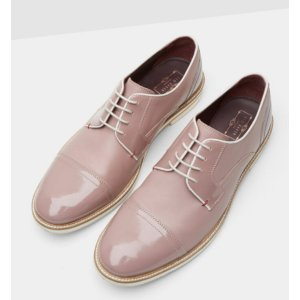 High shine leather derby brogues