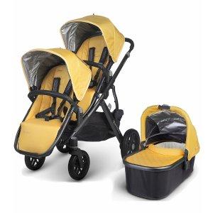 UPPAbaby VISTA 2015 双人儿童推车+睡篮