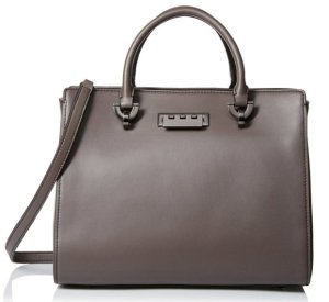 $160.73 ZAC Zac Posen Women's Soft Glaze Eartha Barrel Satchel, Shadow