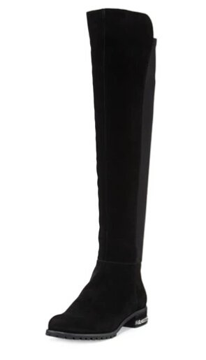 MICHAEL Michael Kors Sabrina Chain-Trim Suede Knee Boot