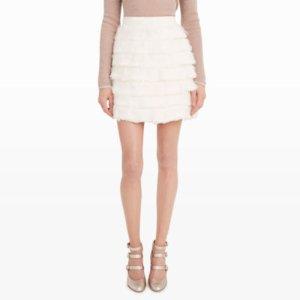 Women | Mini | Fidelma Feather Skirt | Club Monaco