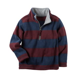 Baby Boy Half-Zip Heavyweight Fleece Pullover | Carters.com