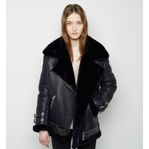 Acne Studios Velocite Leather Jacket in Black | FWRD