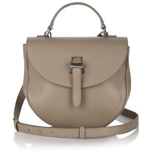 Luxury taupe leather saddle bag - ortensia | meli melo Black friday