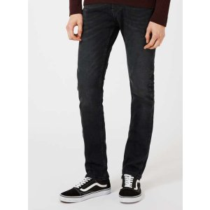 Dark Smokey Wash Grey Stretch Slim Jeans - New This Week - New In - TOPMAN USA