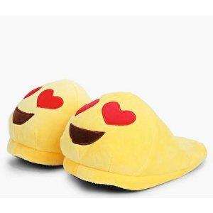 Heart Eye Emoji Slippers