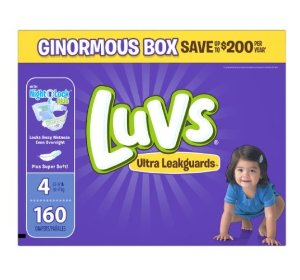 Prime Member Only! 25% Off + Extra 20% Off Luvs Diapers On Sale @ Amazon.com