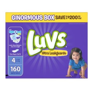 Luvs 超防漏尿布4号160片