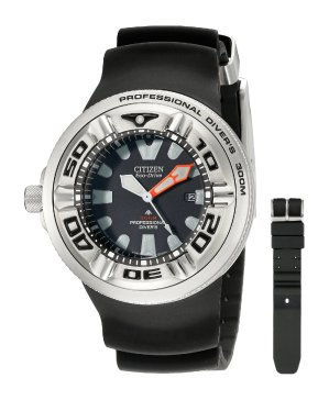$167.99 Citizen Men's BJ8050-08E Eco-Drive Professional Diver Black Sport Watch