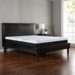 Zinus Faux Leather Platform Bed with Wooden Slats, Multiple Sizes