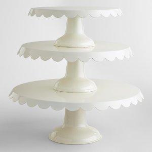 Ivory Amelie Cake Stands | World Market