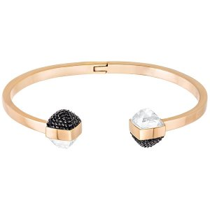 Glance Bangle, Black - Jewelry - Swarovski Online Shop