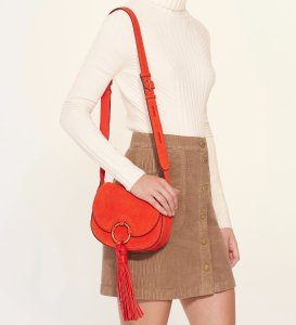 The Last Day! 30% Off Tassel Mini Saddlebag and Free Shipping@ Tory Burch