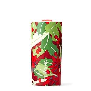 Red Poinsettia Ceramic Tumbler