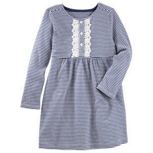 Toddler Girl Striped Henley Dress | OshKosh.com