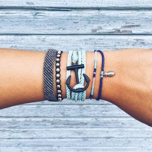 Black Anchor Ice Blue | Pura Vida Bracelets