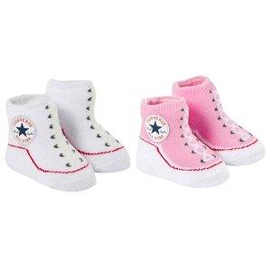 Converse Set of 2 Pink and White Socks | AlexandAlexa