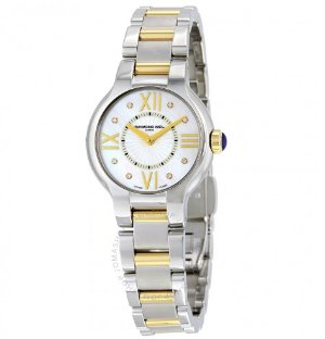 RAYMOND WEIL Noemia Two-Tone Mother of Pearl Diamond Ladies Watch