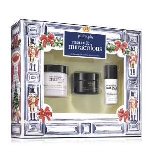 merry & miraculous kit | skincare gift set | philosophy skin care sets
