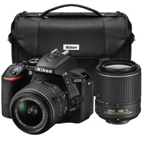 $629 Nikon Refurbished D5500 24.2MP DSLR with 18-55mm & 55-200mm VR II Lenses & Case