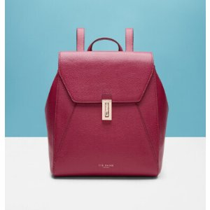 Leather backpack - Grape
