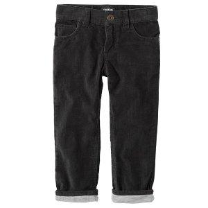Kid Boy Jersey-Lined Cords | OshKosh.com