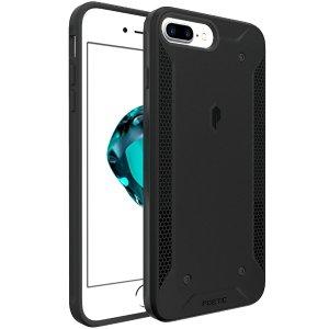iPhone 7/7 Plus Case, Poetic QuarterBack, Black/Clear