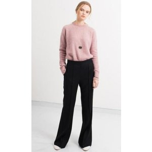 DYS Confidence Pants Black Pin Tucked Flare Pants