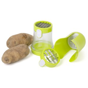 Jumbl™ Potato Dicer & French Fry Cutter with Dual Fry Size Blades - Produces Skinny or Large Fry Cuts in a Matter of Seconds