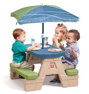 Step 2 儿童桌椅,带遮阳伞