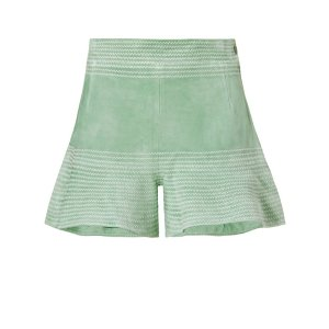 Alexis Guy Suede Flare Short | Shop IntermixOnline.com