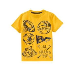 Boys Trophy Yellow Champ Tee by Gymboree