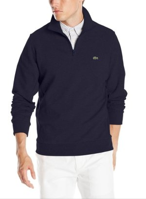 $46.99 Lacoste Men's Quarter-Zip Lightweight Fleece Sweatshirt