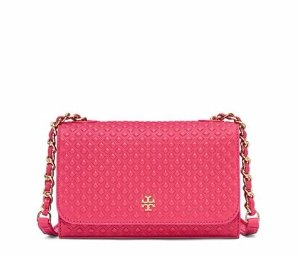 MARION EMBOSSED SHRUNKEN SHOULDER BAG @ Tory Burch