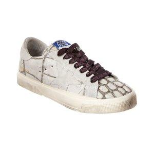 Golden Goose Golden Goose Women's May D3 Croc Embossed Leather Sneaker (403317101) | Bluefly