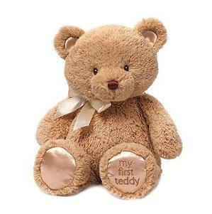 $7.99(原价$15.00)闪购!Gund My First Teddy Bear 毛绒泰迪熊玩具 15英寸