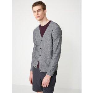 LiteWeave Knit Cardigan in Mixed Grey | Frank + Oak