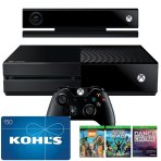 $279.99 Xbox One 500GB Bundle with Kinect & 3 Games+$50 Gift Card