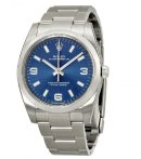 $3995 ROLEX Oyster Perpetual Blue Arabic Dial Domed Bezel Men's Watch