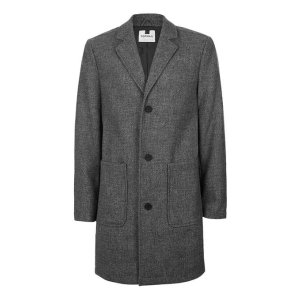 Grey Salt and Pepper Overcoat - Men's Coats & Jackets - Clothing - TOPMAN USA