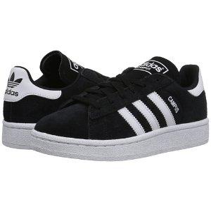 adidas Originals Kids Campus J (Big Kid) Black/White/Black - Zappos.com Free Shipping BOTH Ways