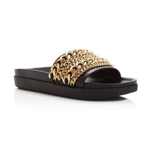 KENDALL and KYLIE Shiloh Chain Pool Slide Sandals | Bloomingdale's