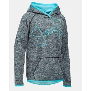 Girls' UA Armour® Fleece Novelty Jumbo Logo Hoodie