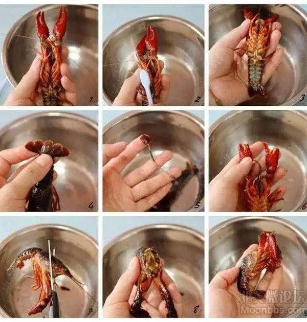 4. 处理完的小龙虾,还需要反复用清水清洗,然后沥干水,等着下锅。 爆炒 接下来就是重头戏,爆炒了。因为我买的5磅小龙虾,分了2次来做,中午做了一次发朋友圈没想到超多人问我怎么做的,于是晚上的我就做了这个教程。先发一张中午炒出来的样子。